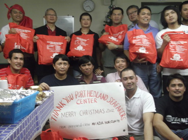 Port Hedland Seafarers Centre - MV Azule Crew - Christmas Appeal